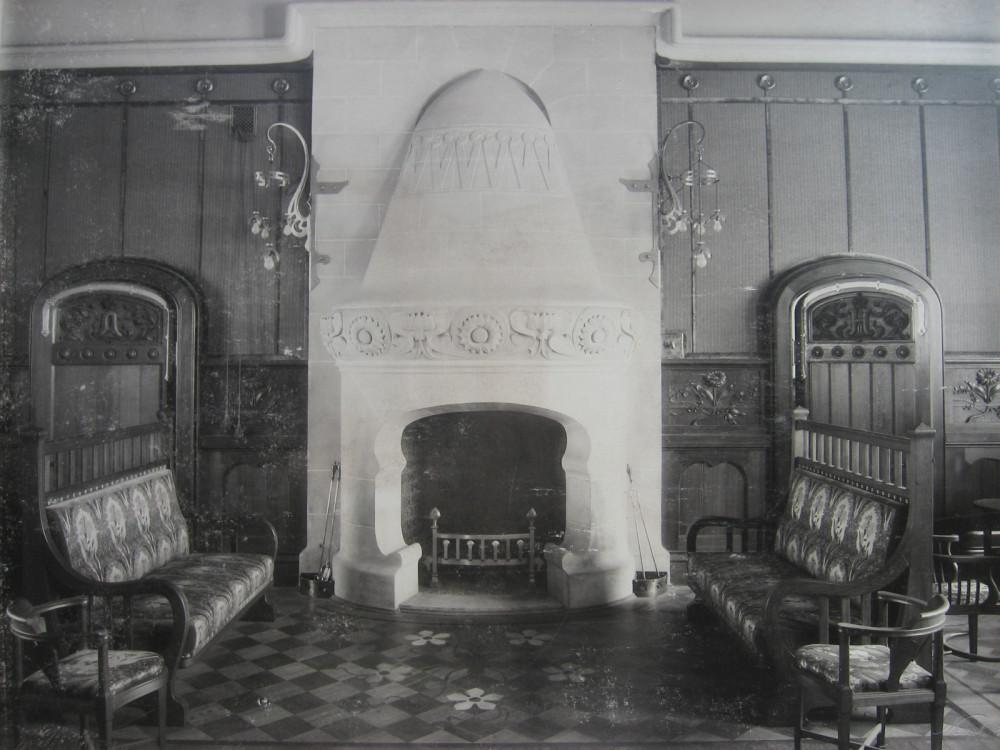 15. Камин в зале Императорских Величеств. 1901 год.
