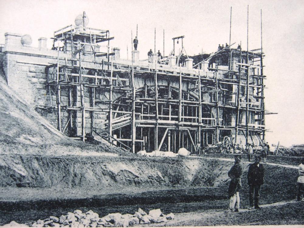 9. Вид работ по возведению моста.