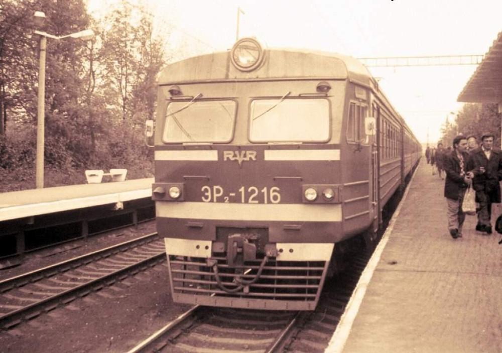 ЭР2-1216, пл.Покровская, 1980 год.