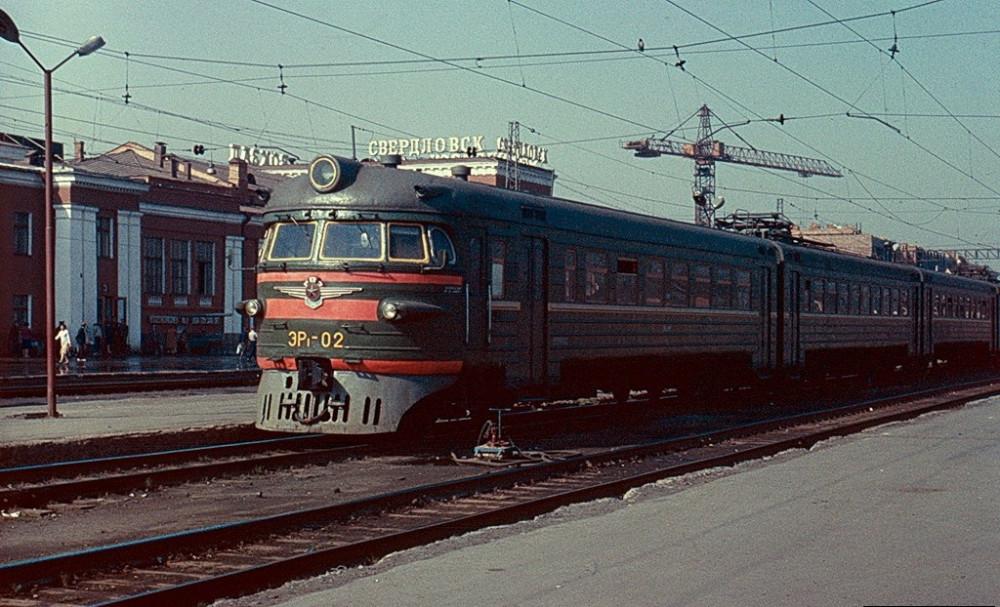 ЭР1-02, ст.Сведловск-Пасс., май 1989 год.