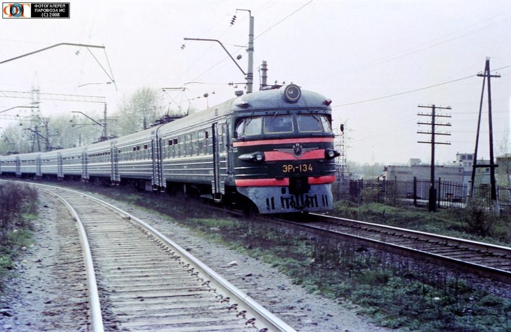 ЭР1-134, Первоуральск-Хрустальная, май 1989 год.