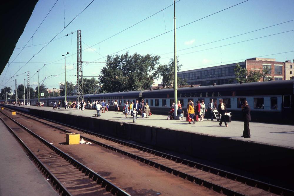 26. Фирменный поезд Москва-Ярославль, ст.Москва-Пасс-Ярославская, 1982 год.