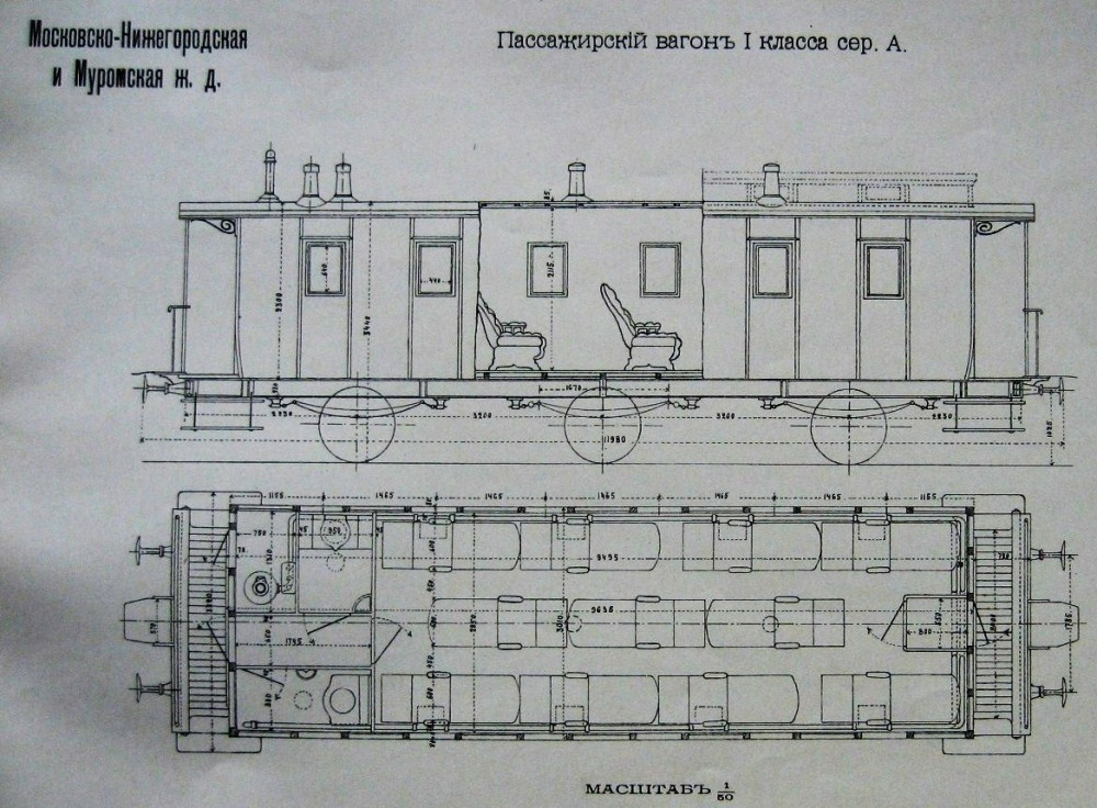 24. Пассажирский вагон I класса.