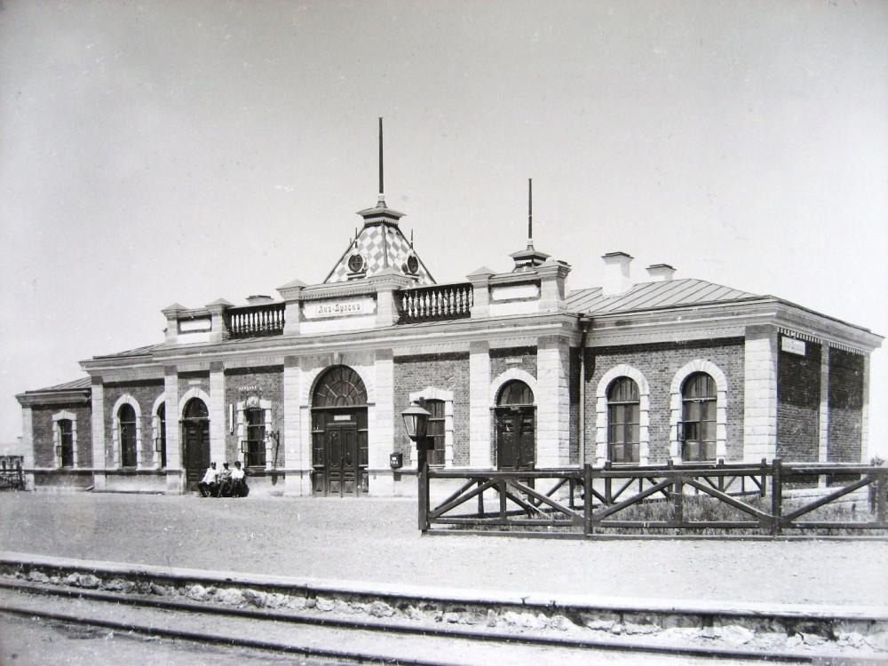 17. Пассажирское здание на станции Ак-Булак.