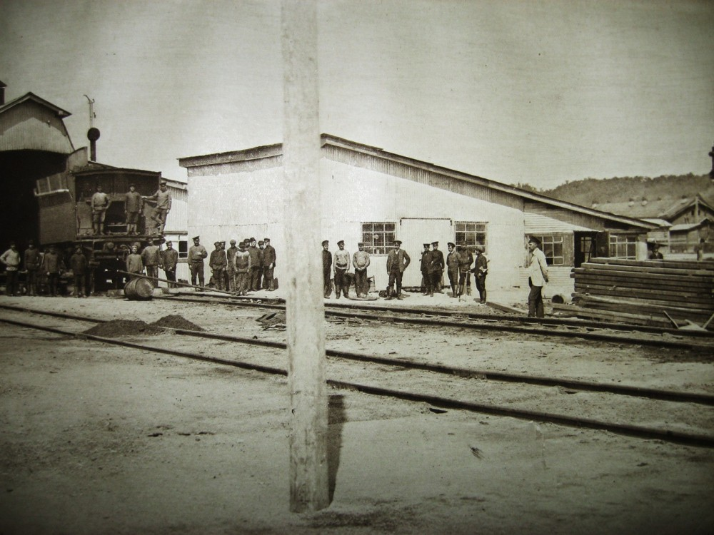 65. Станция Бурея. Временное депо.