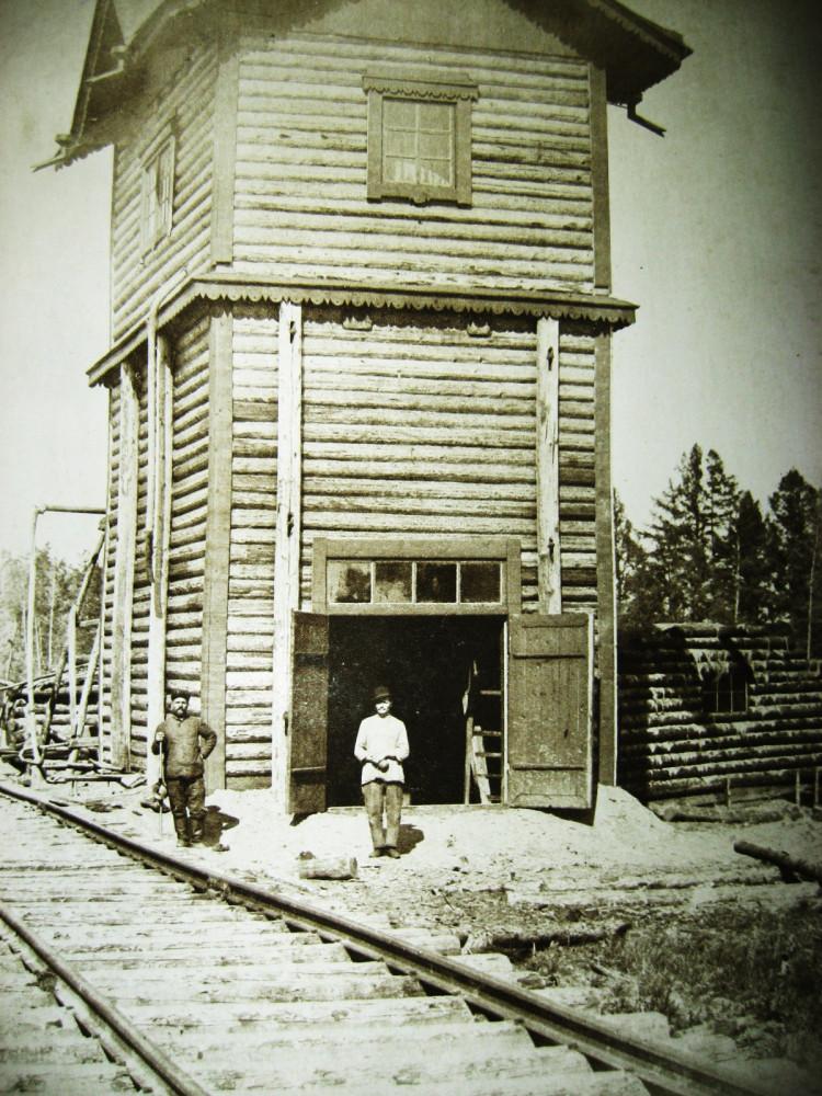 112. Временное водоемное здание на станции Ганжа.