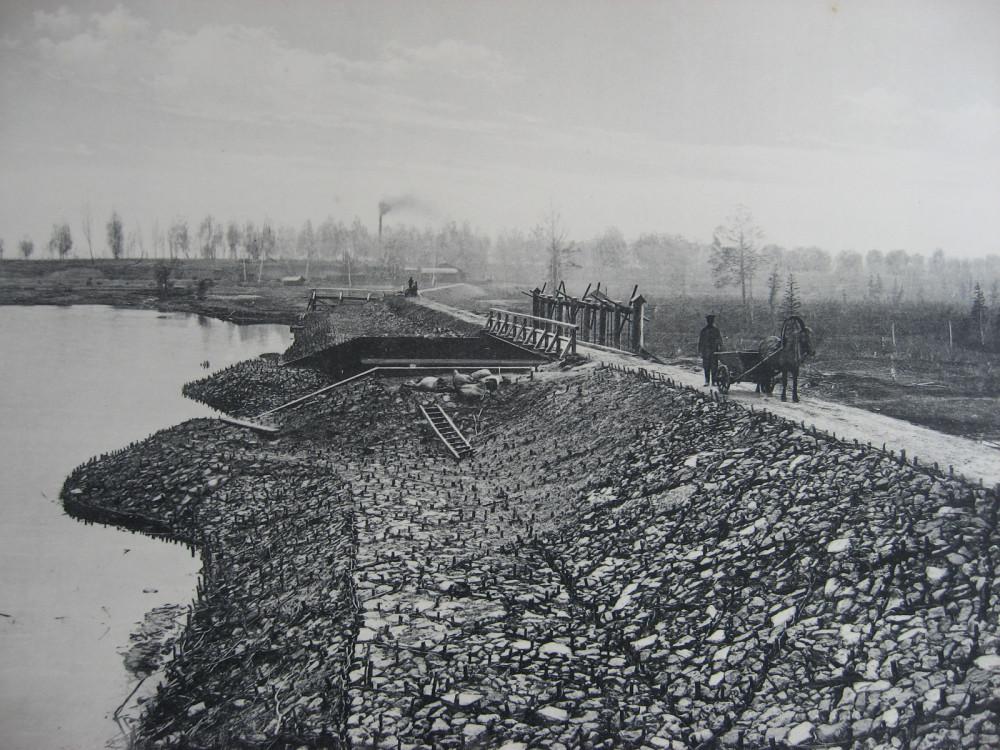 8. 2308 верста. Общий вид Иланской плотины. 1911 год.