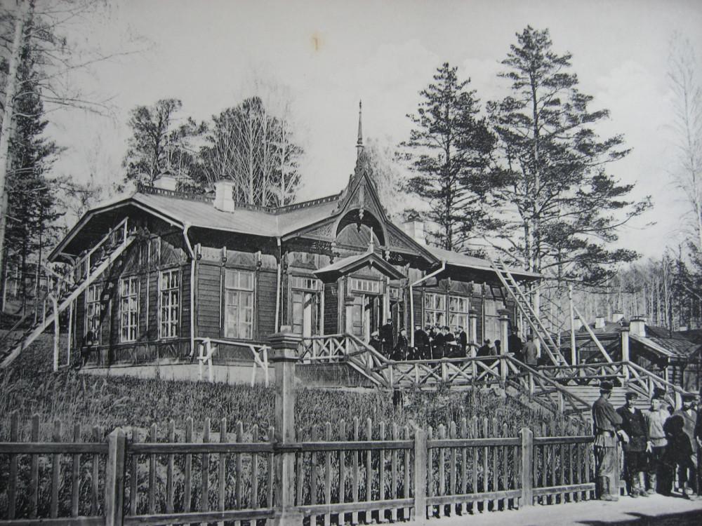10. 2392 верста. Пассажирское здание на станции Ключи. Строительный период 1910 год.