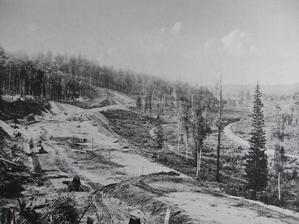 16. 2546-2547 версты. Вид старого и нового полотна. 1909  год.