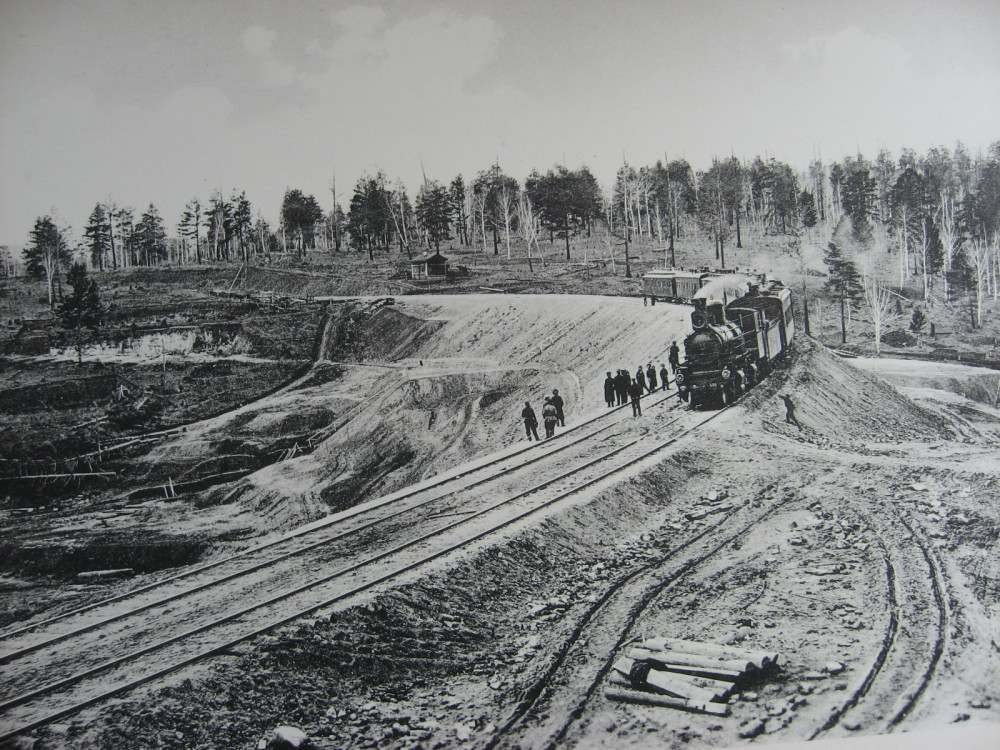 26. 2572 верста. Новая насыпь под два пути. 1910 год.