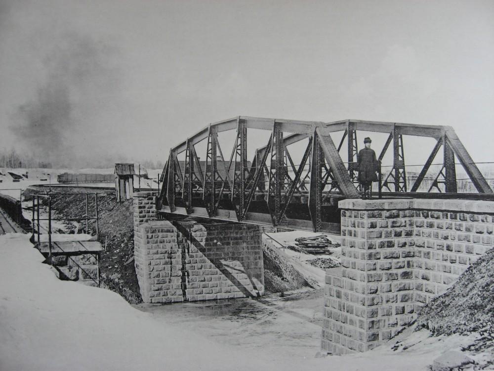 33. 2597 верста. Новый мост под второй путь через р. Рубахину. 1909 год.
