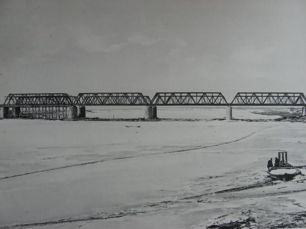 44. 2985 верста. Общий вид моста через р. Белую. Работы 1910-1911 гг.