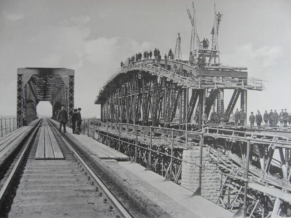 45. 3021 верста. Фермы нового моста через р. Китой. Работы 1910-1911 гг.