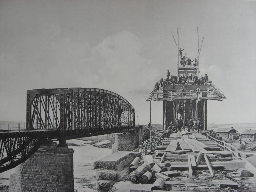 46. 3021 верста. Сборка нового моста через р. Китой. Работы 1910-1911 гг.