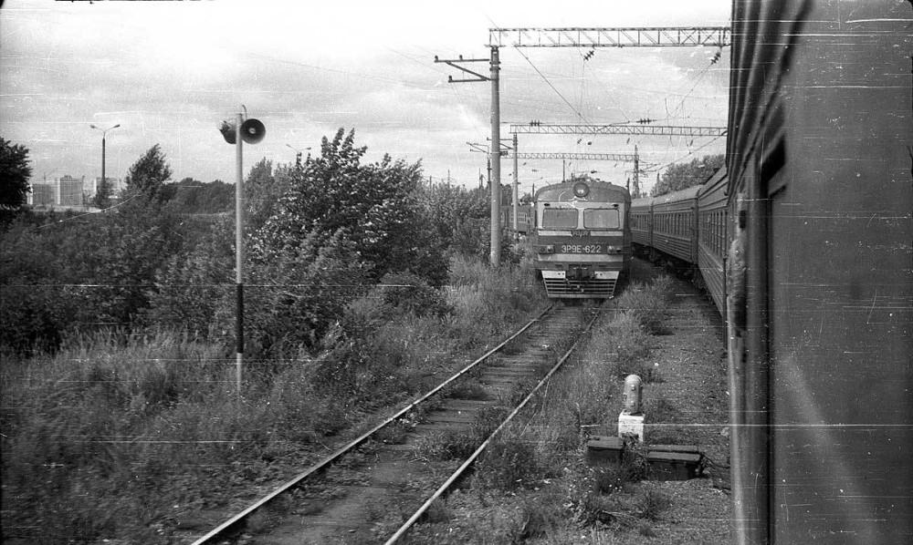 16. ЭР9Е-622, станция Казань-Пасс, тупики, 1988 год.