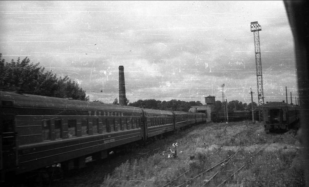18. Cтанция Казань, вагонное пассажирское депо, фирменный поезд Татарстан, 1988 год.