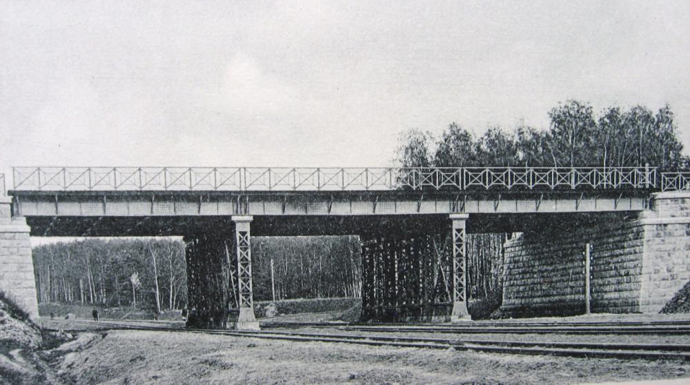 25. Общий вид моста для пропуска  Казанской ж.д. над Окружной ж.д.
