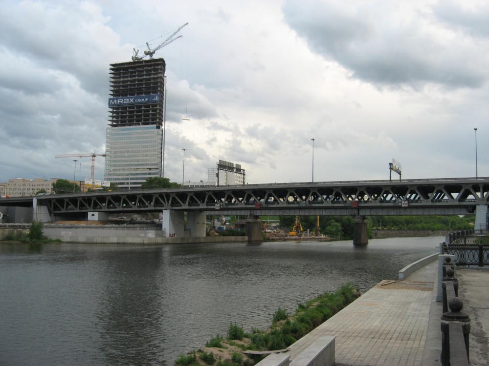 50. Мост Третьего транспортного кольца через Москву-реку у Делового центра, 30.05.2008