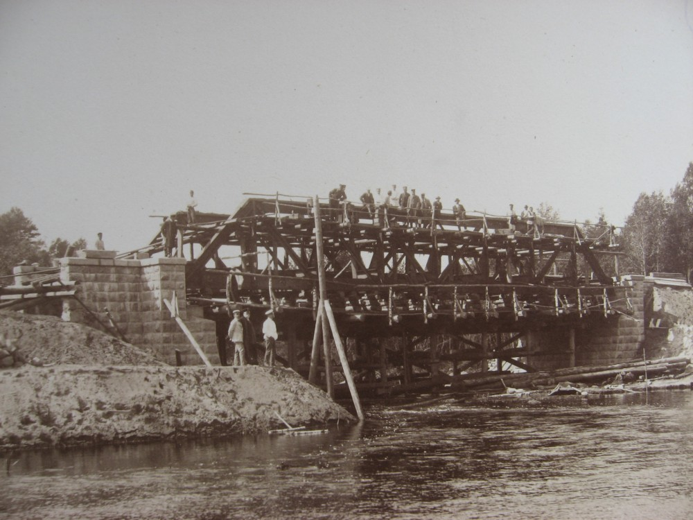 3. Сборка моста через р. Храповлянку.