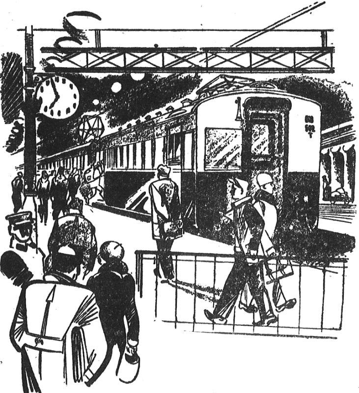 6. Иллюстрация из газеты Вечерняя Москва - Северный (Ярославский) вокзал и электросекция. 1933 год.