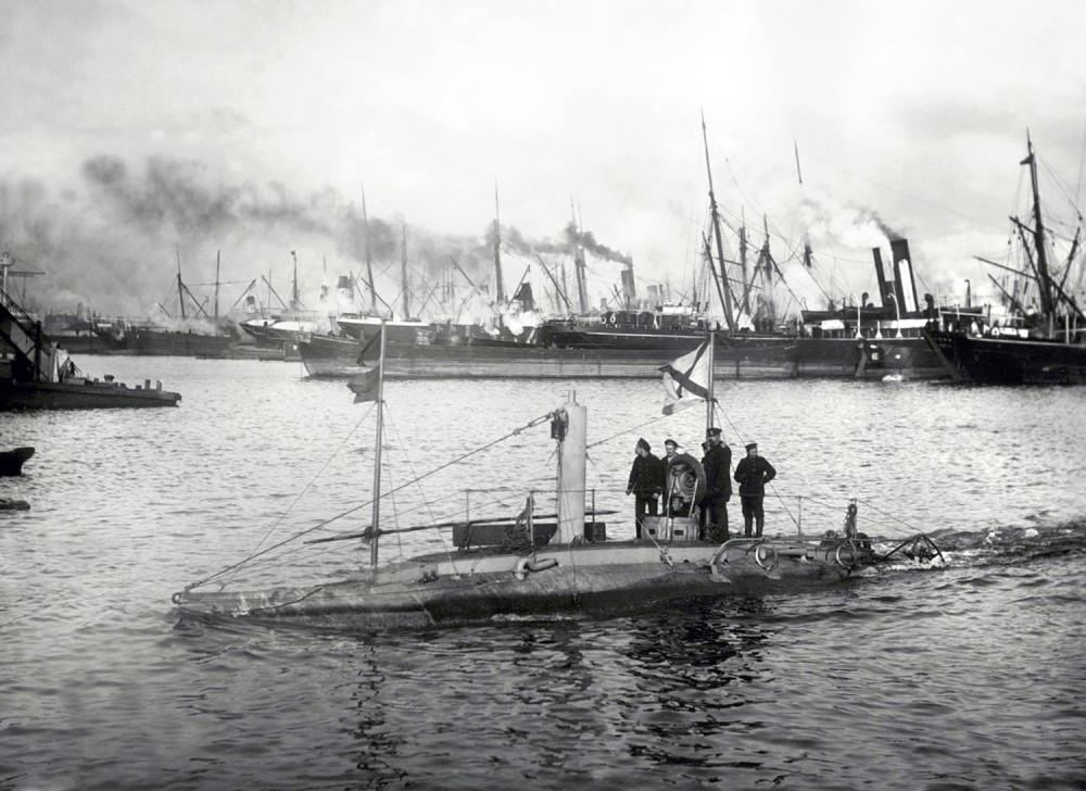 Подводная лодка «Дельфин». Балтика, 1904 г.