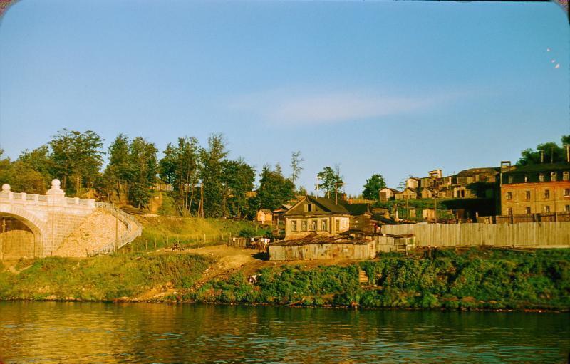 71. Москва-река у Андреевского ж.д.моста, 1956 год.