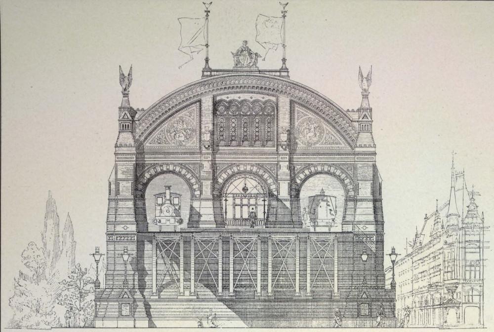 16. Проект станции для городской железной дороги в Париже.