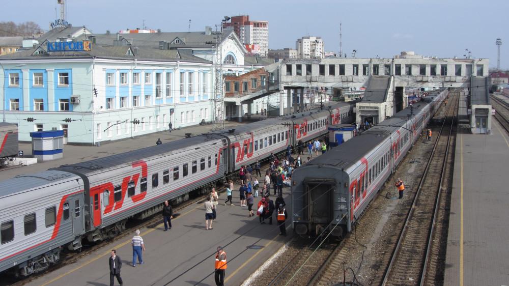13. Станция Киров. Пассажирские платформы.