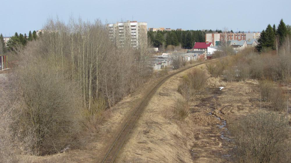 38. Кирово-Чепецк. Вид в сторону Каринторфа с автомобильного путепровода.