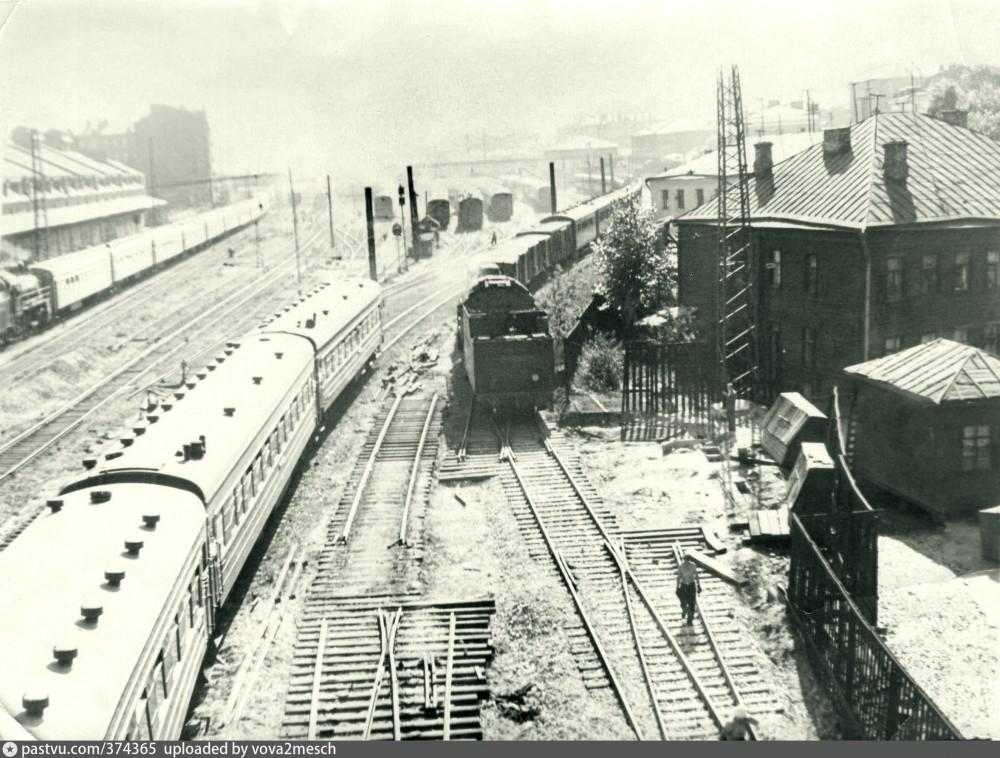 1. Ж.д.станция Москва-Рязанская, 50-е годы.