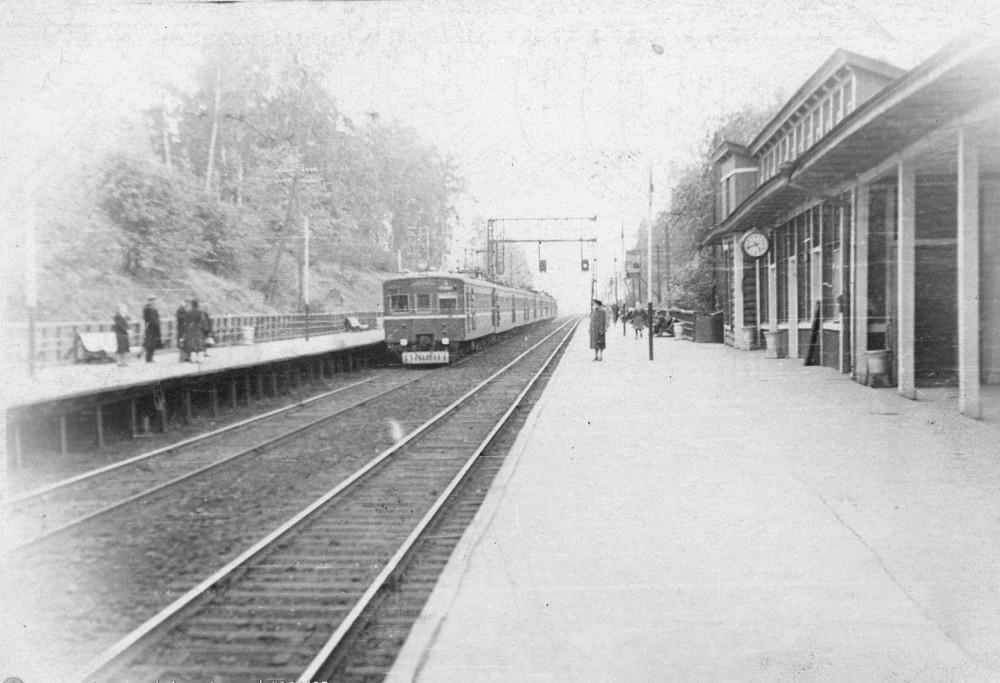 127. Платформа Мамонтовская, 50-е годы.