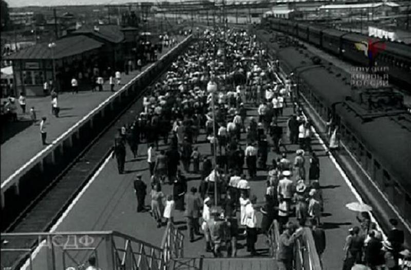 36. Станция Тушино, 1952 год.