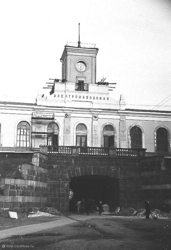 108. Платформа Электрозаводская, пригородный вокзал, 1958 год.
