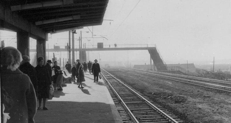 112. Платформа Текстильщики, вид в сторону Люблино, 1967 год.