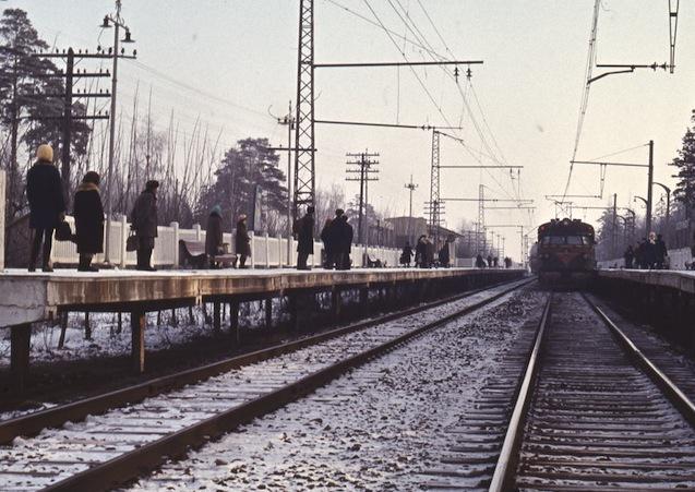136. Платформа Валентиновка, 60-е годы.