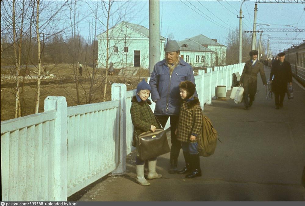 83. Ж.д.станция Дубна, 1977 год.
