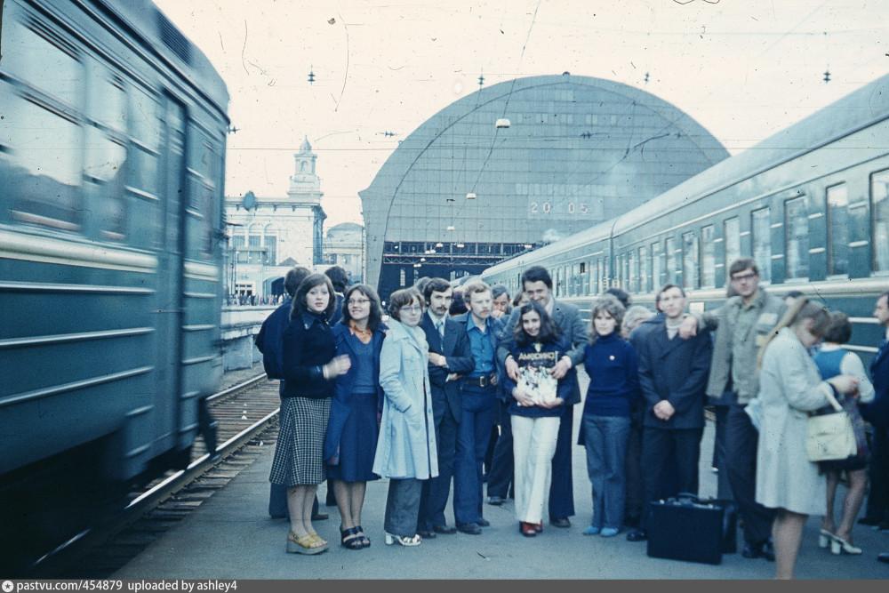 40. На Киевском вокзале, 1976 год.