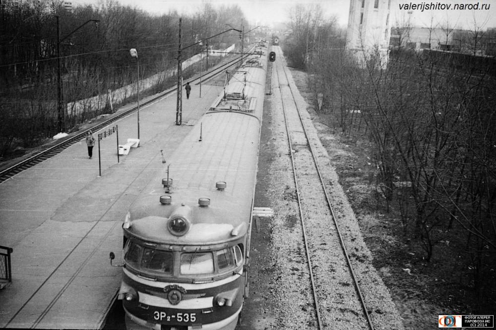 26. ЭР2-535, платф.Депо Курское напр., 1979 год.