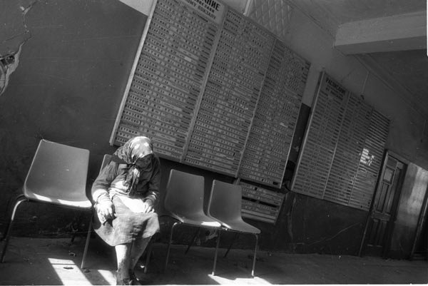 59. Станция Фрязево. Зал ожидания. 1990 год.