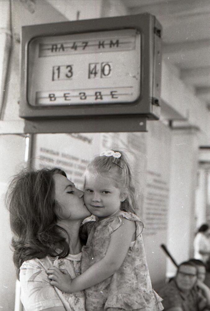 95. На платформе Ждановская, 70-е годы.