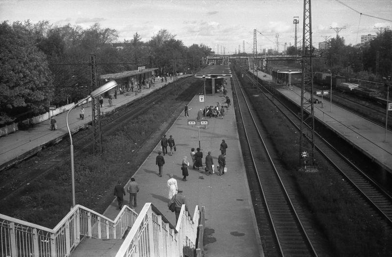 76. Станция Лосиноостровская, 1988 год.