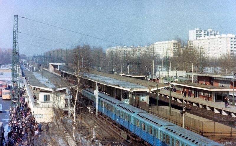 124. Метро Ждановская, 1986 год.