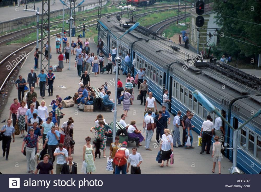 108. Станция Москва-Пасс-Смоленская, 90-е годы.