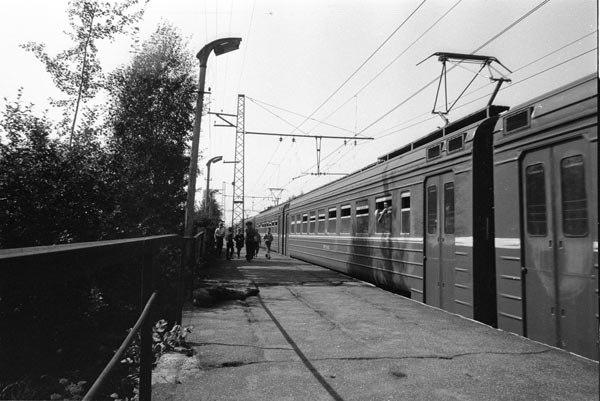 60. Платформа Есино Горьковского напр., 1990 год.