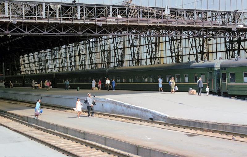 58. Дебаркадер Киевского вокзала, 1973 год.