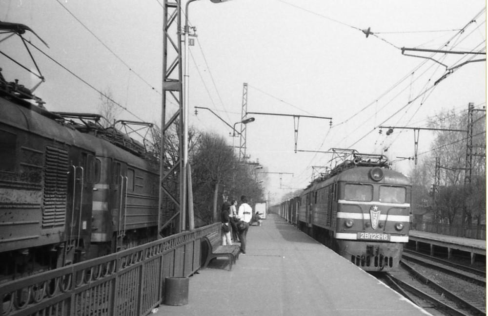 54. Ж.д.станция Поварово-I, 80-е годы.