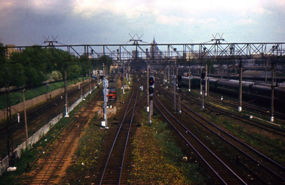 87. Ж.д.станция Москва-Пасс-Киевская, 1984 год.