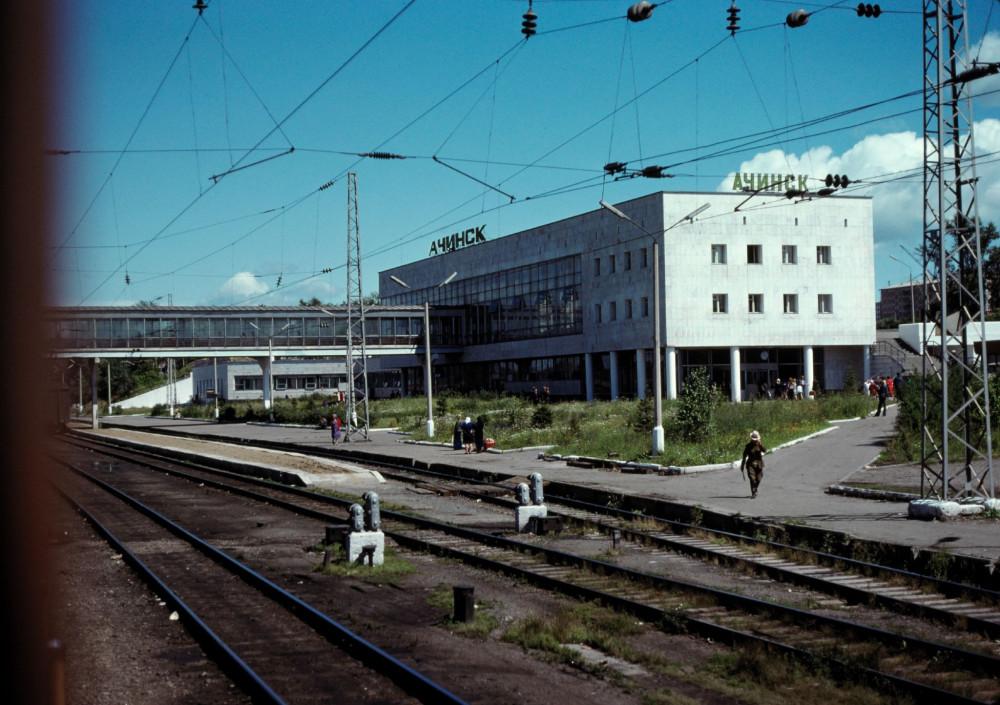115. Станция Ачинск Красноярской ж.д., Транссиб, 1979 год.