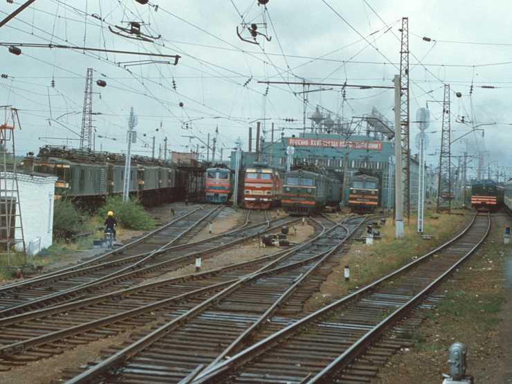 62. Локомотивное депо Балезино Горьк.ж.д., 1981 год.