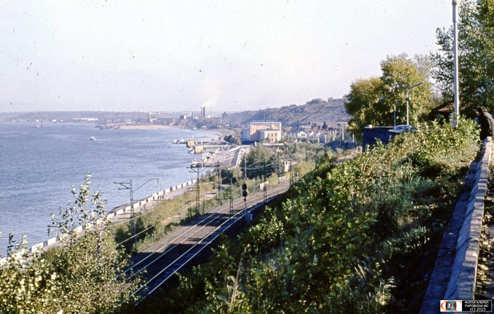 96. Перегон Пермь II - Пермь I, 80-е годы.